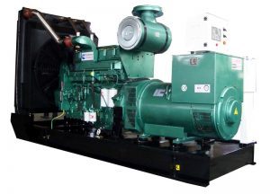 open type diesel generator that requires a service